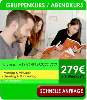 Deutsch Abendkurse München - Gruppenkurse