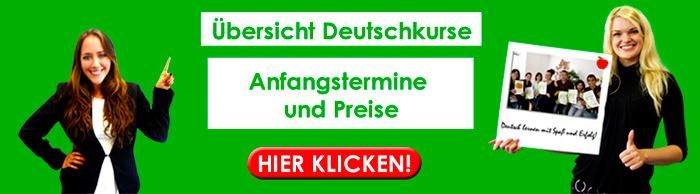 Deutschkurse Anfangstermine und Preise