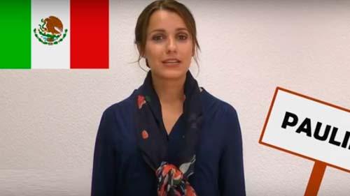 Unsere Sprachlehrer aus München. Heute unsere Spanischlehrerin Paulina aus Mexico