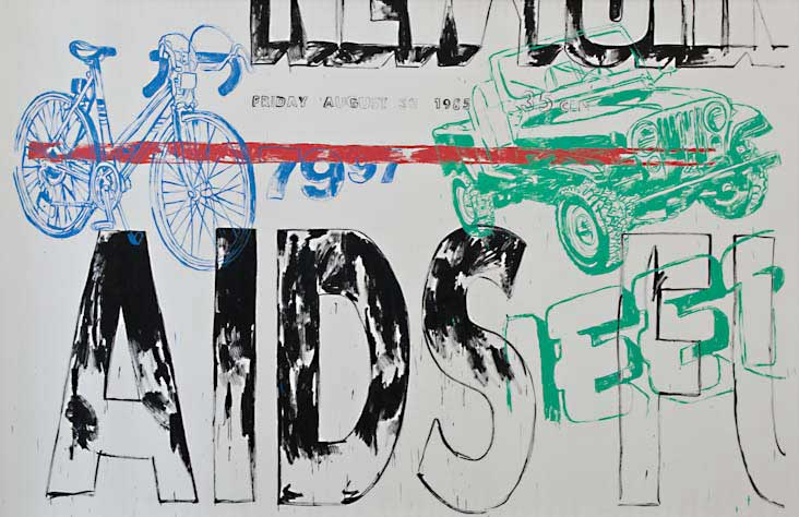 Aids/Jeep/Bicycle, 1985/1986