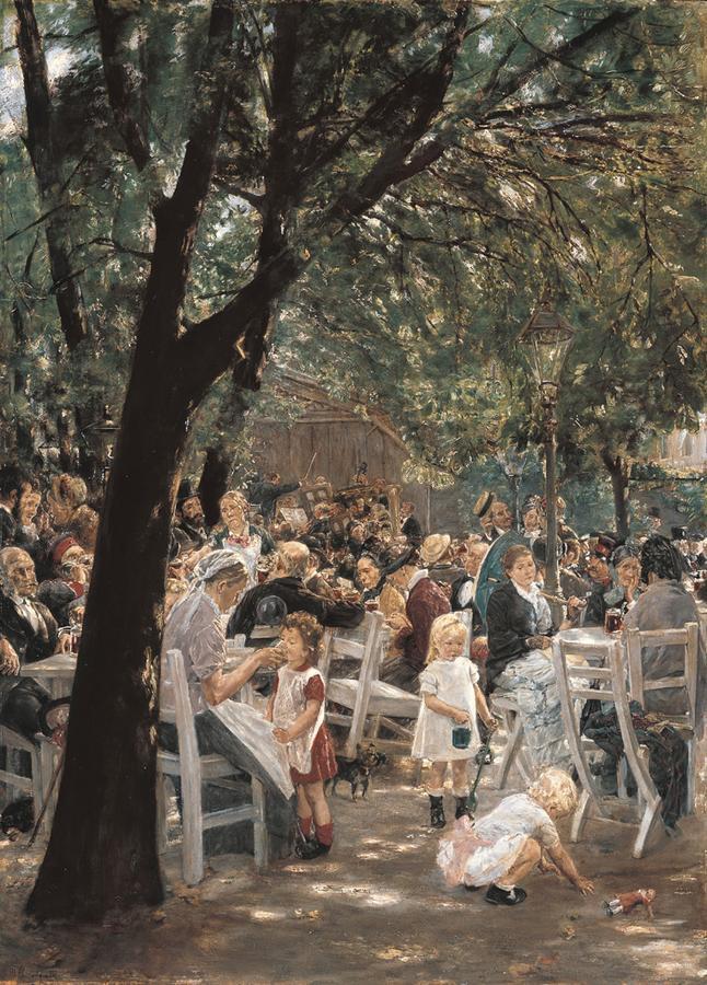 Münchner Biergarten, 1884