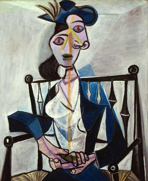 Picasso - Sitzende Frau, 1941