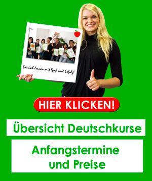 Unsere Deutschkurse Preise und Termine