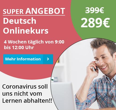 Angebot Deutsch Onlinekurs in München