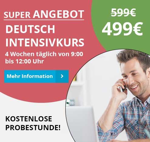 Angebot Deutsch Intensivkurse in München