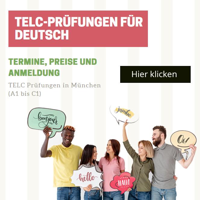 telc Prüfungen für Deutsch in München - Prüfungszentrum telc Deutsch