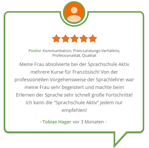 Bewertung Sprachschule Aktiv München
